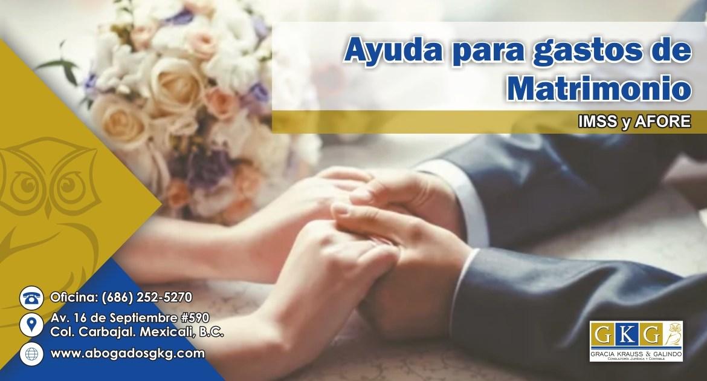 ABOGADO GKG Ayuda para gastos de matrimonio