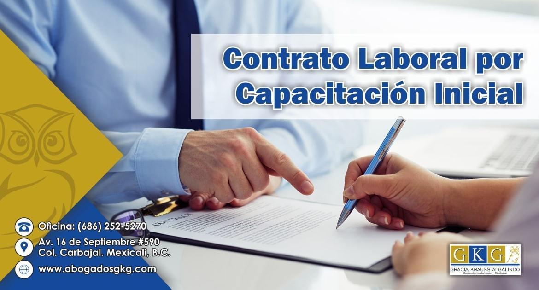 Contrato Laboral por Capacitacion Inicial Abogados GKG
