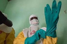 a man taking care of new cases of ebola virus in DR Congo