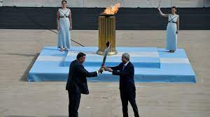 handing over of Olympic flame