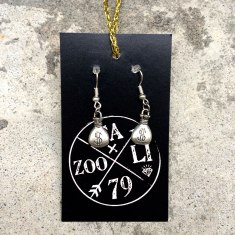 money bag earrings