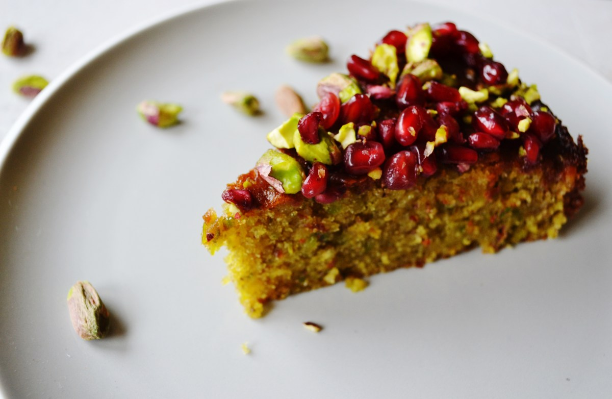 Pistachio and Pomegranate Cake