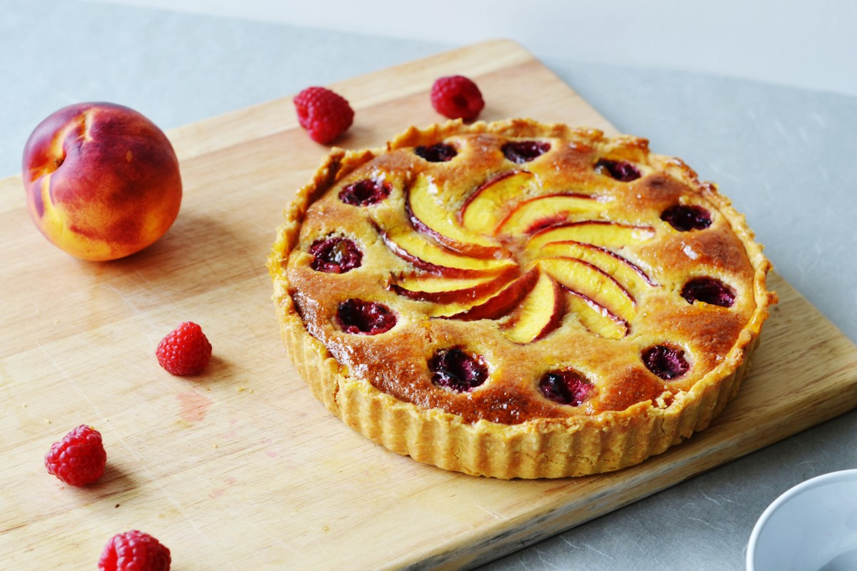 Raspberry and Nectarine Frangipane Tart - Bake Off Bake Along Week 6
