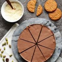 Cherry & Coconut Chocolate Tiffin