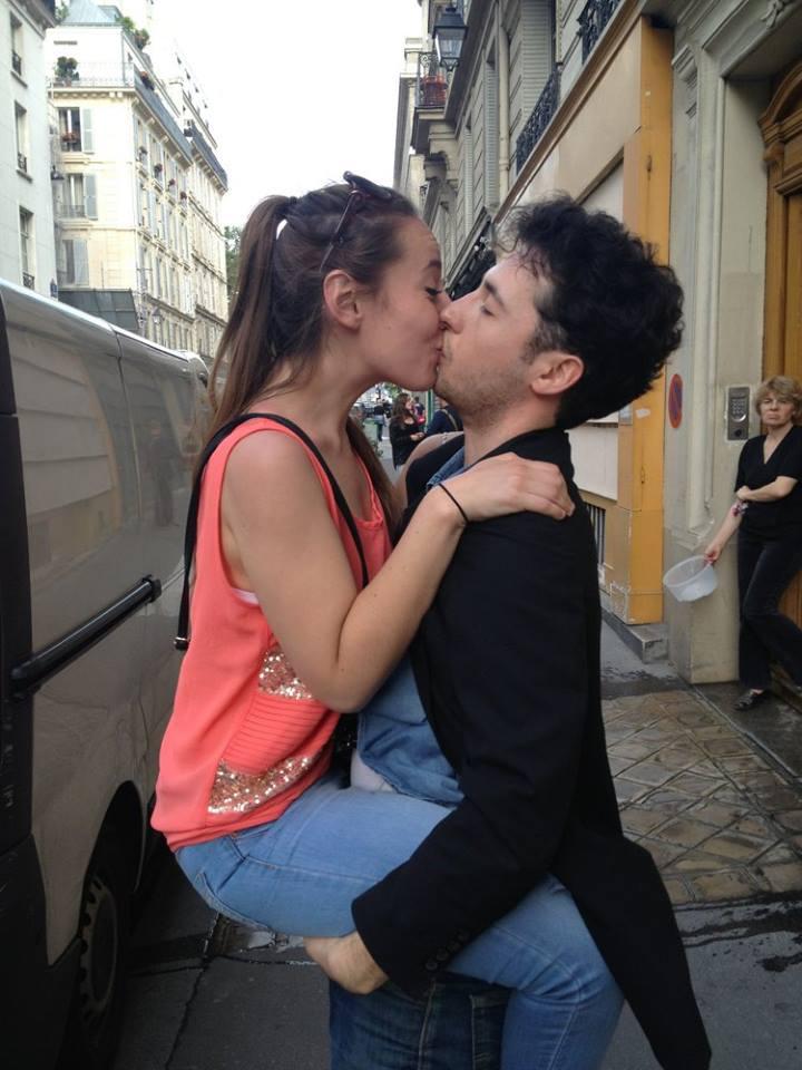 bisou dans la rue