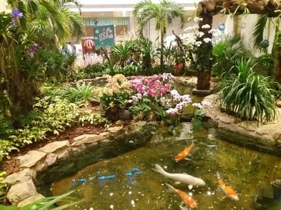 Um dos vários jardins no aeroporto Changi, em Singapura