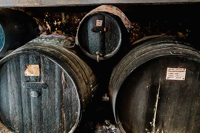 Discover how bulk wine from Catalonia is still stored in barrels