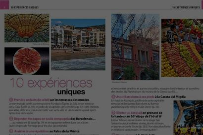 Contents for food magazines and travel guides