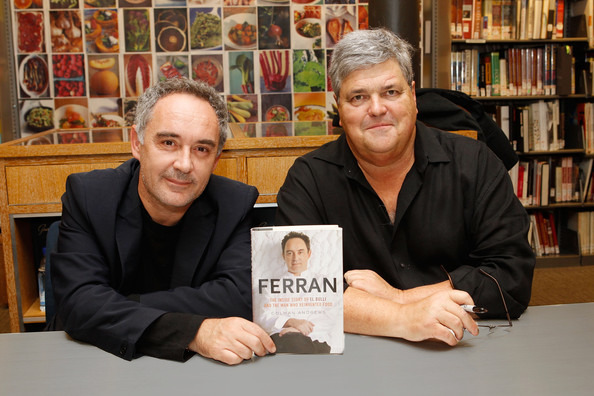 Chef Ferran Adrià and Colman Andrews