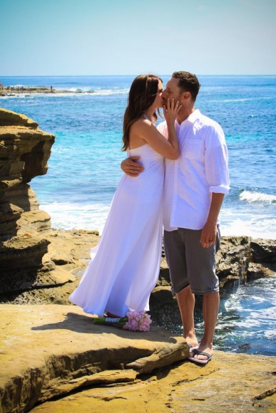 Rachael And Anthony La Jolla Beach Wedding Photos
