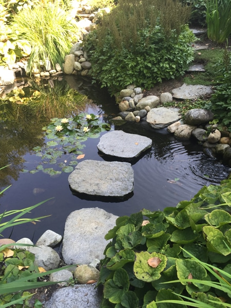 Sustainable Landscape Design and Stonework in Western MA - water