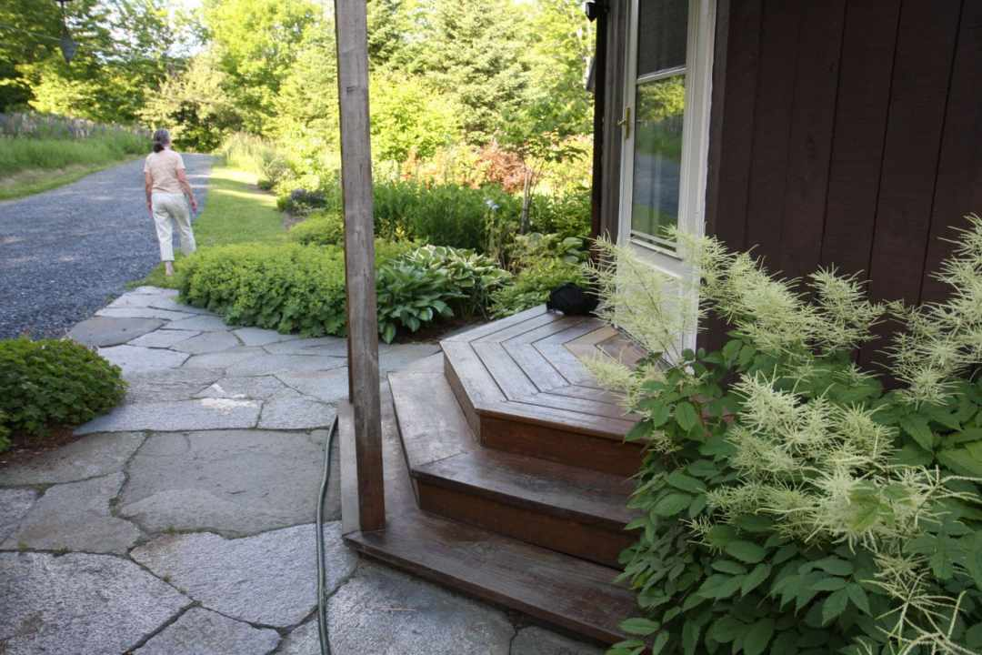 Thistle Hill - Brattleboro VT  - Landscape Design - porch
