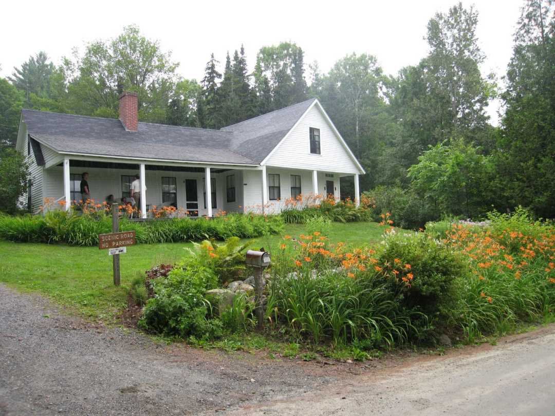 Landscape Design at the Frost Place in Franconia, NH - front
