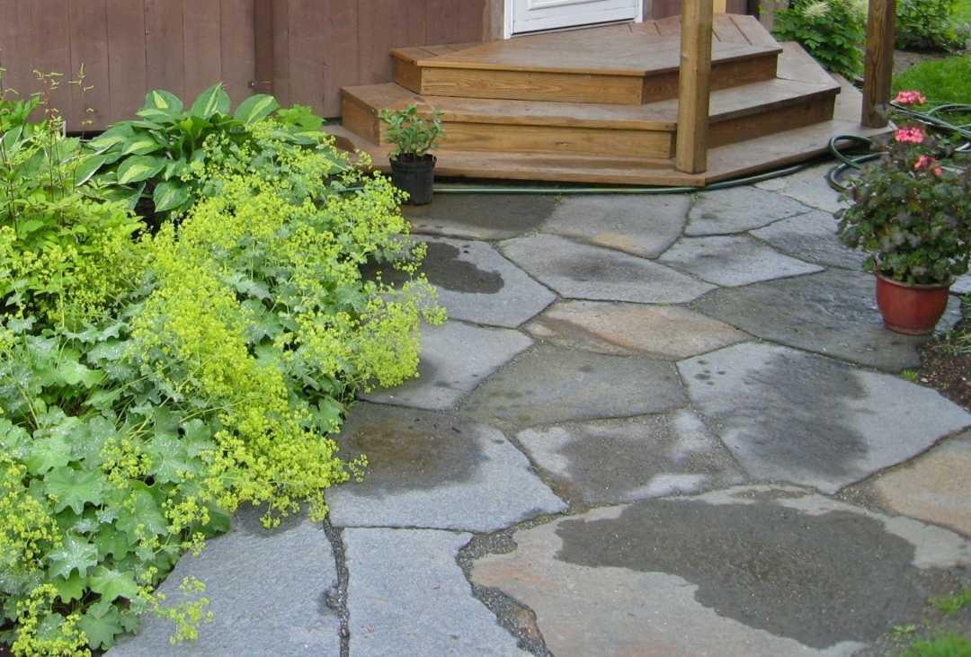 Landscape Design and Stonework in Western MA - Goshen Stone patio