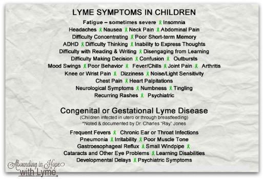 Children's Lyme Symptoms