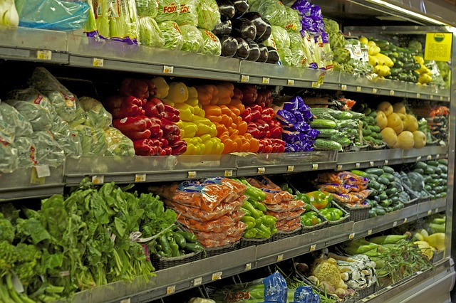 Vegetable isle at the grocery store