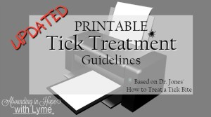Printable Tick Treatment Guidelines