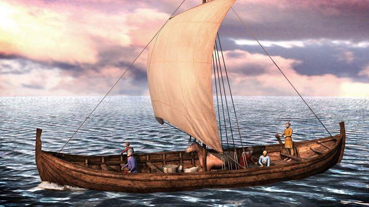 Image of Viking knorr merchant ships