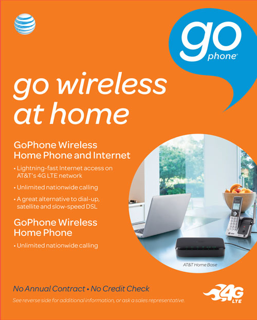 at t gophone expands offering of products with new gophone wireless home phone internet on the nation s most reliable 4g lte network at t
