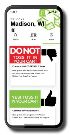 ERbin-Madison App Screenshot