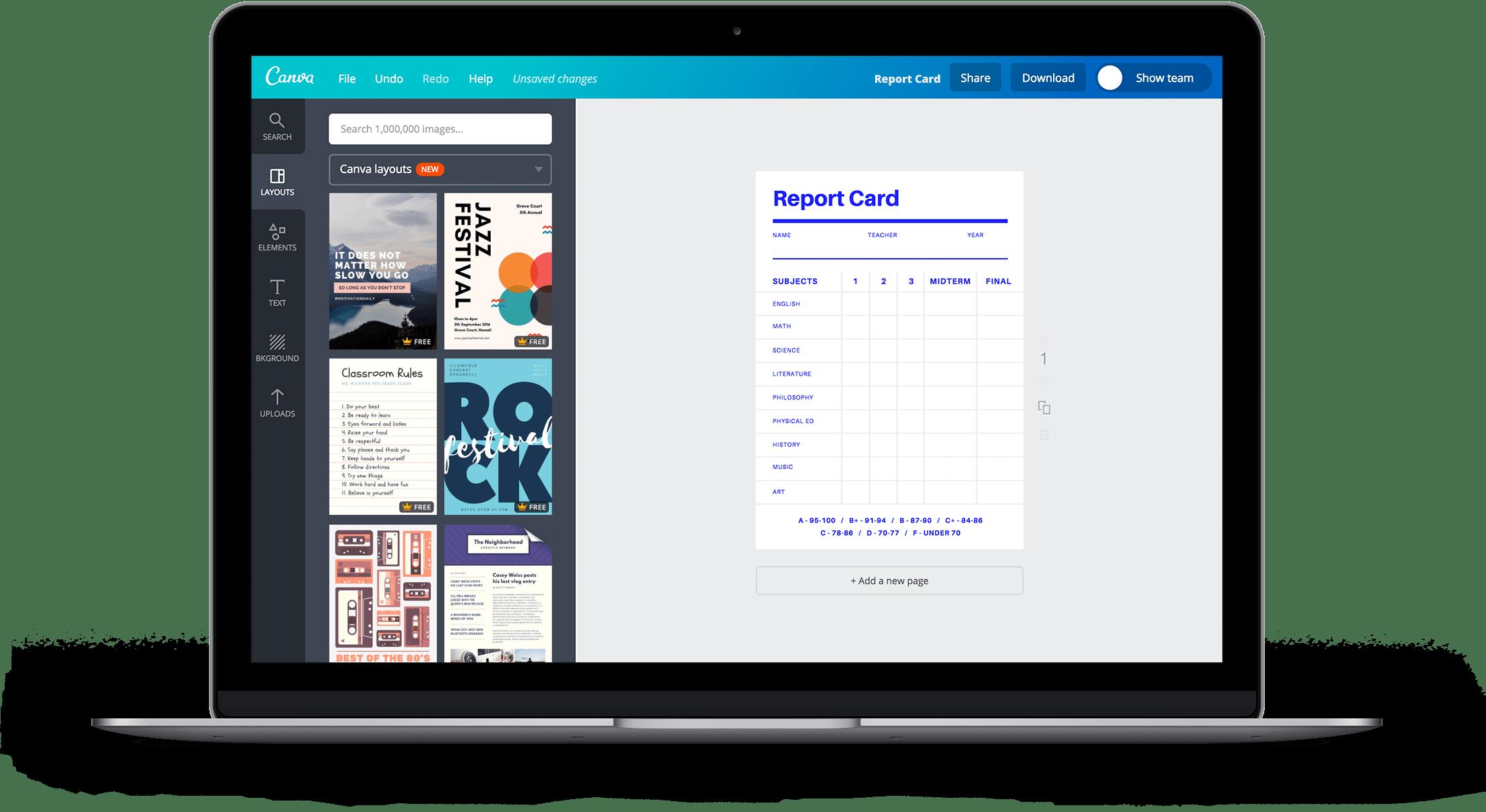 Free Online Report Card Maker Design A Custom Report Card