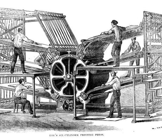 Hoes Six Cylinder Printing Press