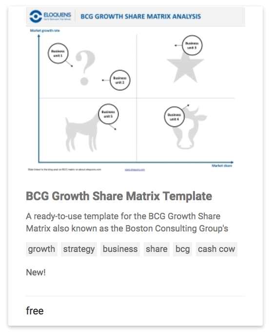 The BCG's Growth Share Matrix - Eloquens