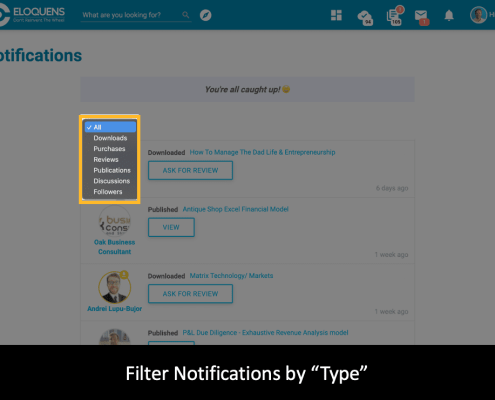 Filtering in the Smart Notifications Feature