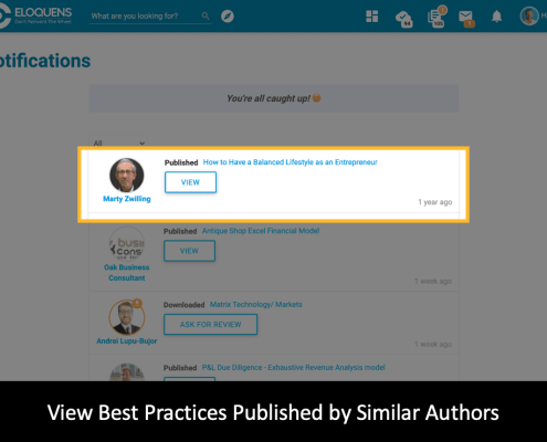 View Best Practices Published by Similar Authors - Smart Notifications