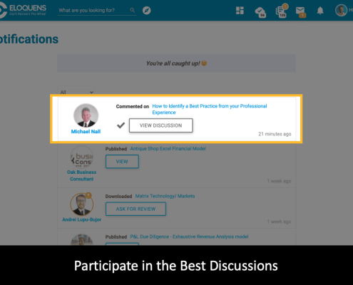 Participate in the Best Discussions - Smart Notifications
