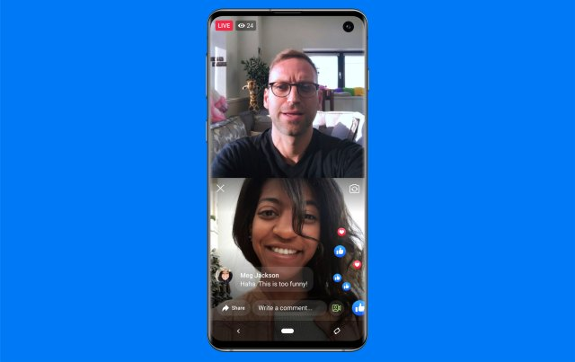 Facebook Live With on mobile