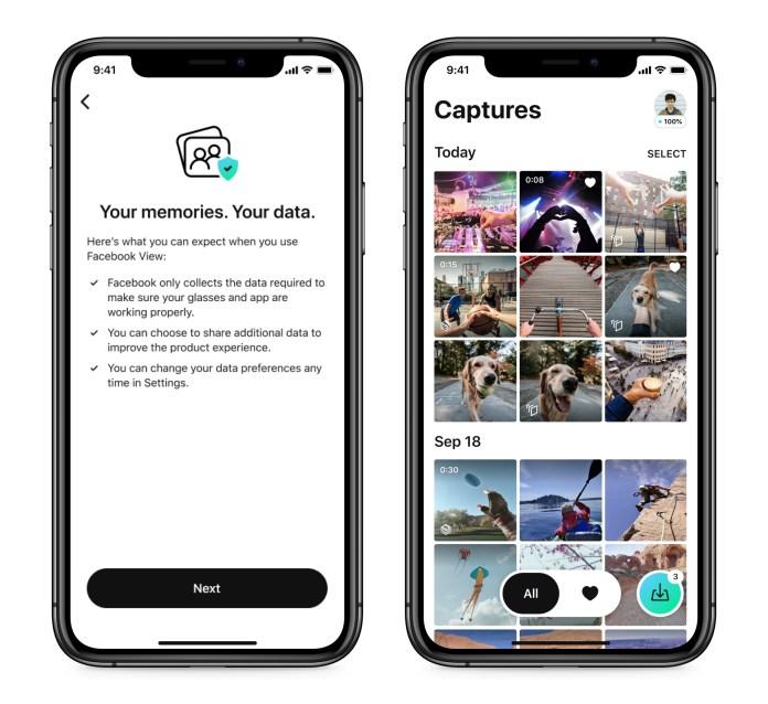 Screenshot of Facebook View App