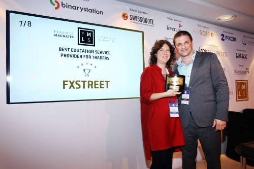 Finance Magnates Award FXStreet 2015 Summit London_Carolina May and Michael Greenberg