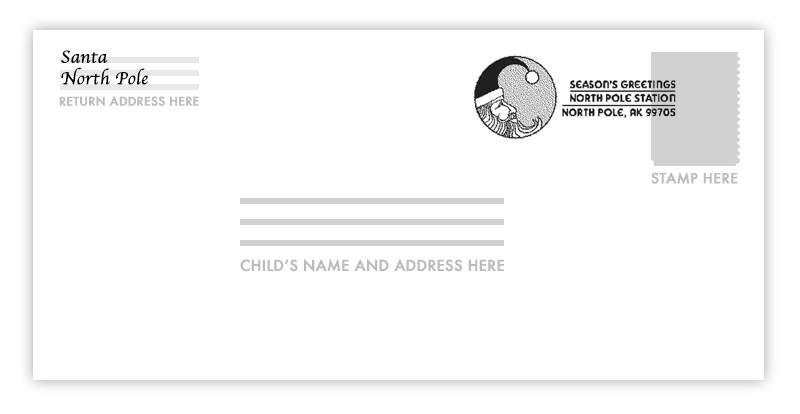 Open End Envelope Template