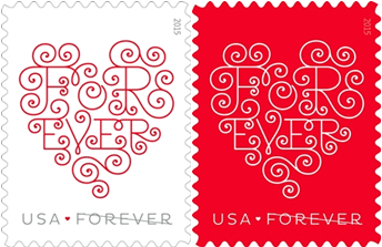 Love: Forever Hearts stamps