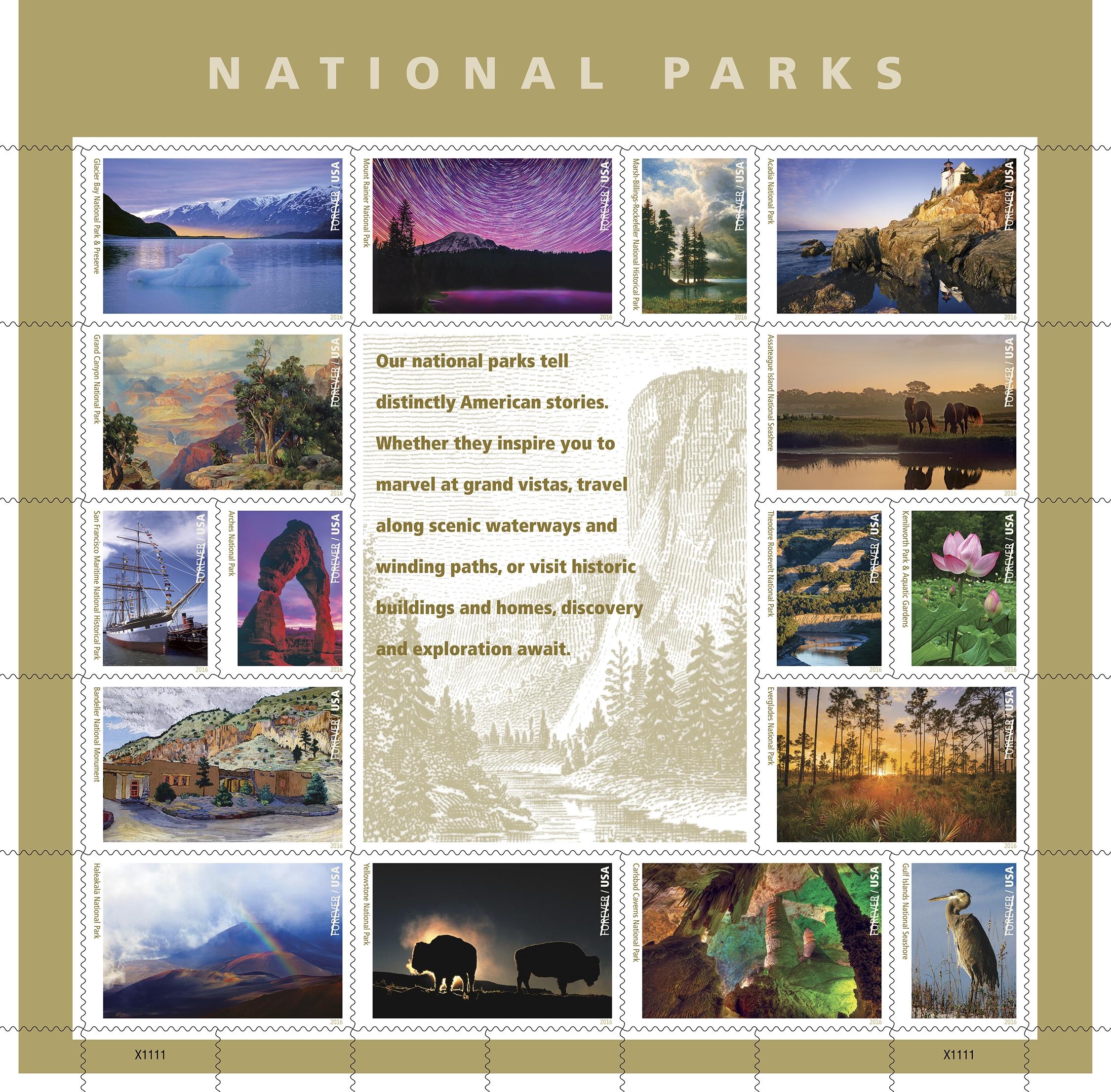 Usps Previews 16 Spectacular National Parks Stamps