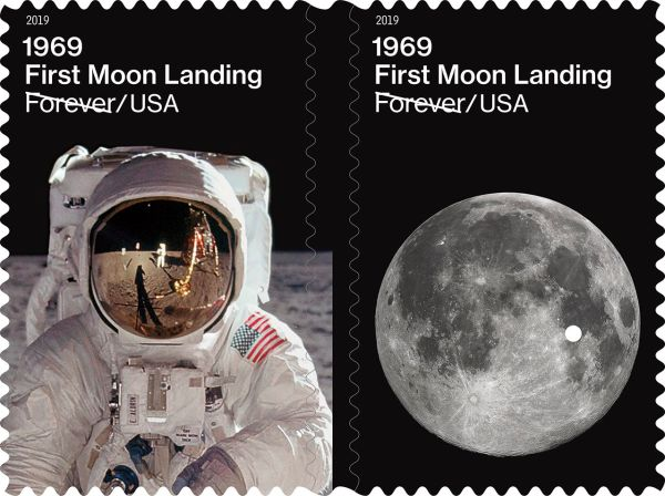 New stamps celebrate 50th anniversary of first moon ...