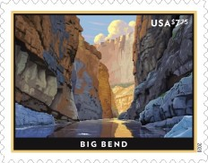 Big Bend Priority Mail stamp