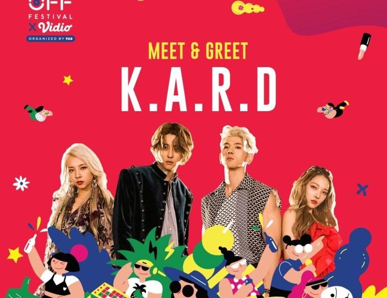 Meet & Greet dengan Grup KPop Co-ed KARD di OOF19 yuk!