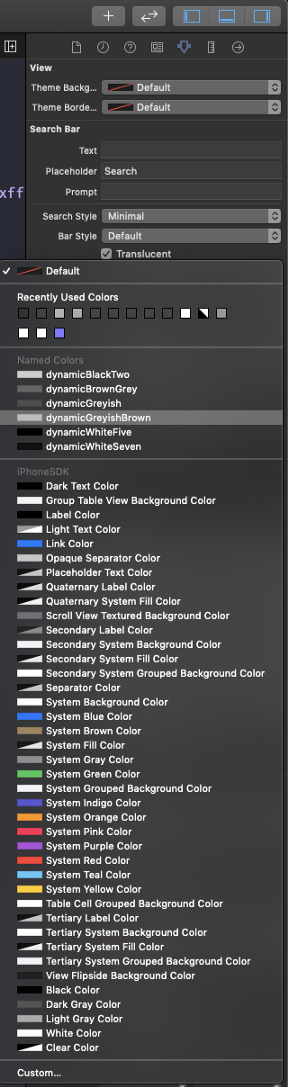 Picking a named adaptive color.