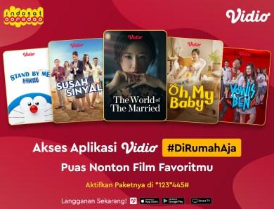 Pakai Indosat, Bisa Puas Nonton Film Favorite di Vidio!