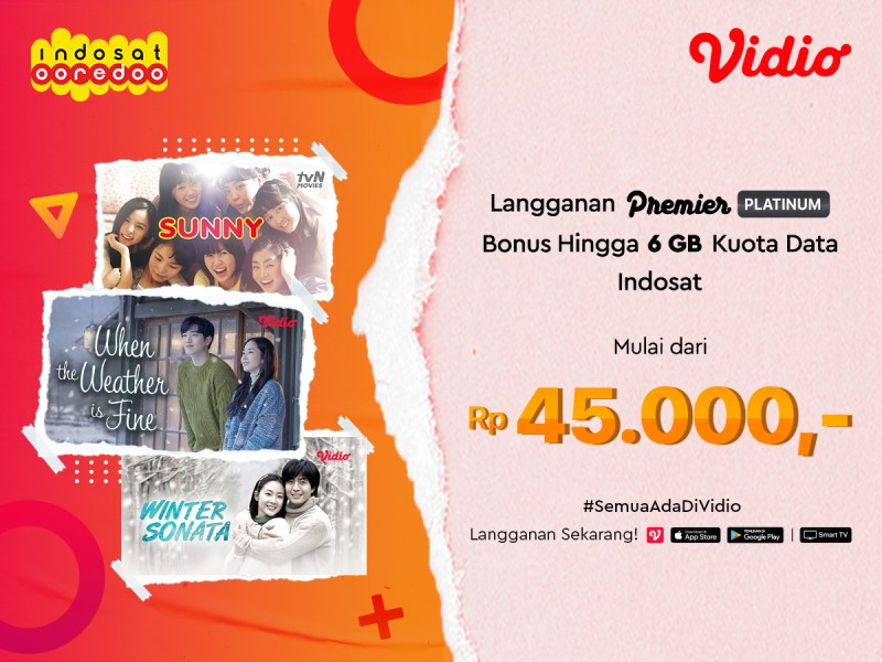 Dengan Indosat, Dapatkan Bonus Kuota hingga 6 GB dan Akses Nonton di Vidio!