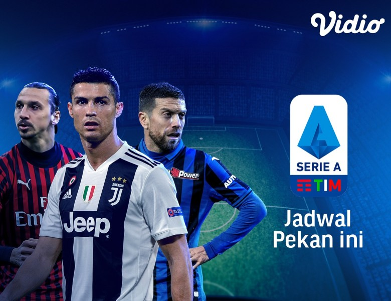 Jadwal bola liga Italia Serie A dimulai tanggal 10 Juli sampai 14 Juli 2020 hanya streaming di Vidio