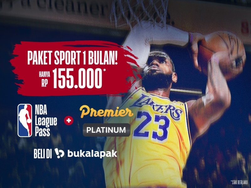 BELI AKSES NBA LEAGUE PASS, BONUS VIDIO PREMIER PLATINUM 30 HARI!