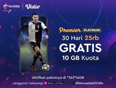 Nonton Liga Champion di Vidio Tambah Hoki Dengan Berlangganan Lewat Telkomsel