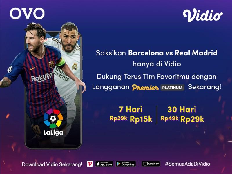 Nonton La Liga Barcelona vs Real Madrid Sekarang Menggunakan Promo Premier Platinum Dari OVO, Nonton Bola Jadi Tambah Lepas Teriaknya!
