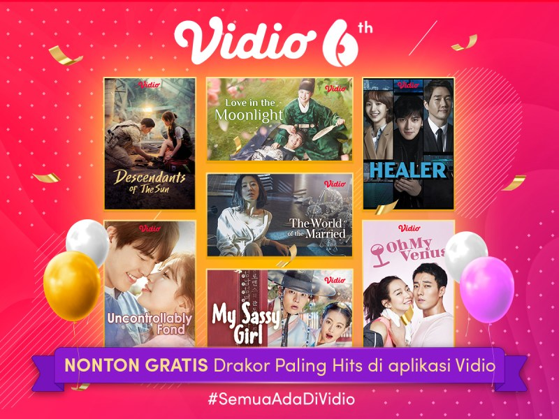 Nonton Drakor Gratis Oktober di Perayaan Ulang Tahun Vidio yang Ke-6