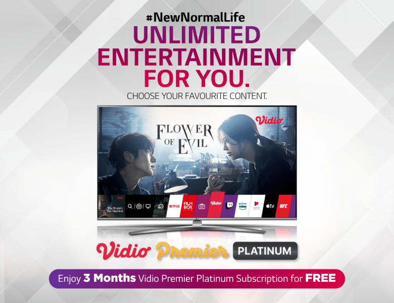 Di Rumah Aja Anti Bosan Berkat 'Voucher Vidio Premier Platinum' Gratisan untuk Setiap Pembelian LG TV!