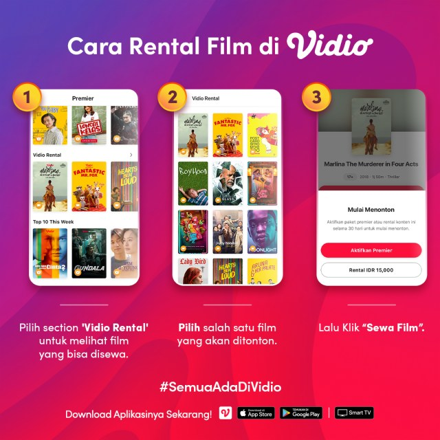 Rental Film di Vidio