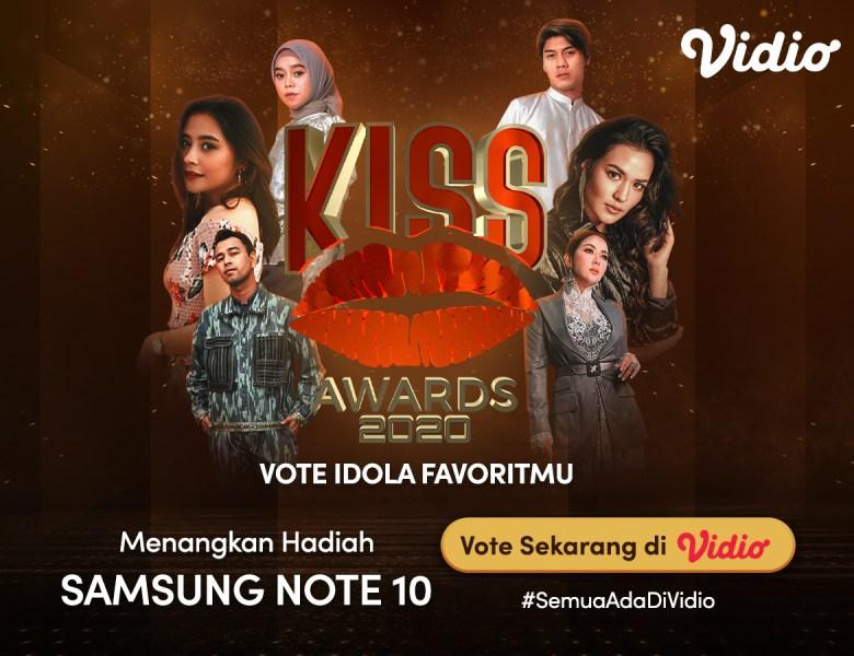 Buruan Voting Kiss Awards 2020 Sekarang! Dapatkan Samsung Note 10 GRATIS Bersama Vidio